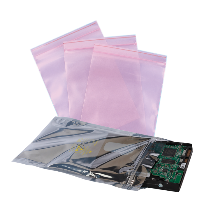 Anti-Static Poly Zip Bags
