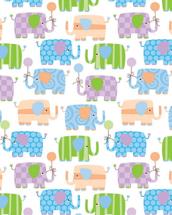 Baby Elephants Gift Wrap - Full Ream