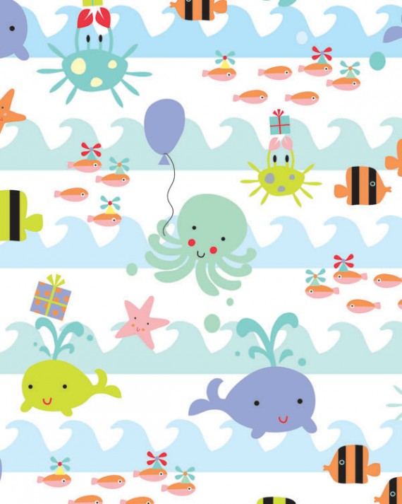 Sea Babies Gift Wrap - Full Ream