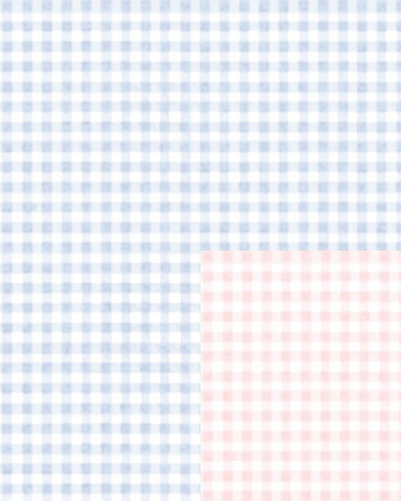 Baby Gingham Reversible Gift Wrap - Half Ream