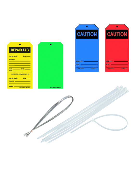Blank Write-On Equipment Tags w/ String
