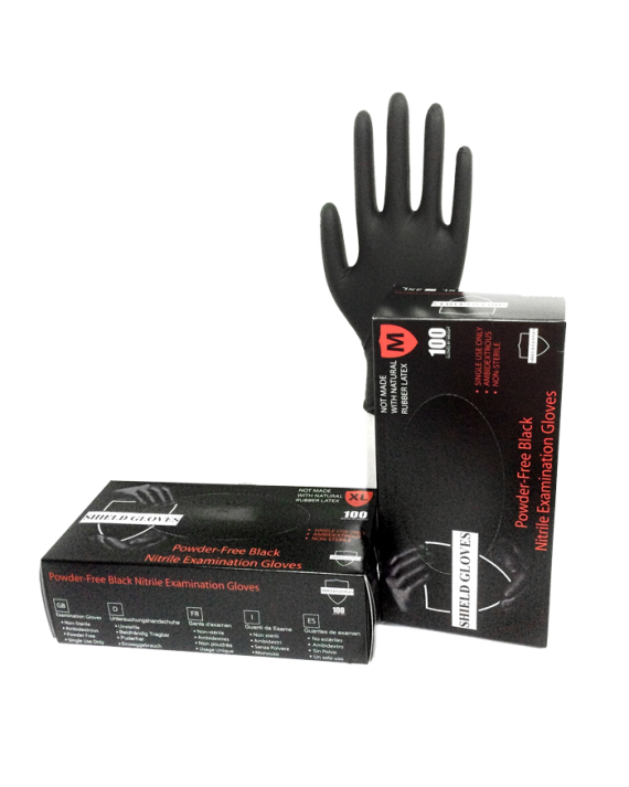 6 MIL Black Exam Gloves