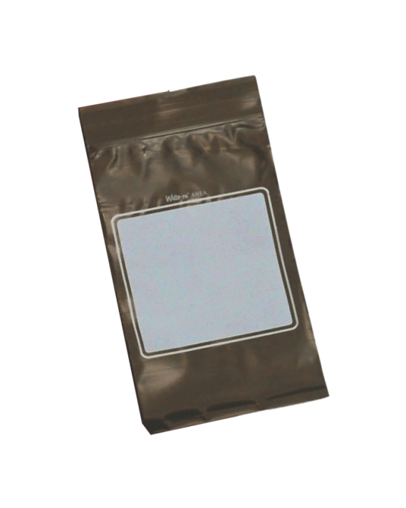 Zip Amber Pharmacy Bags w/ Write-On Area