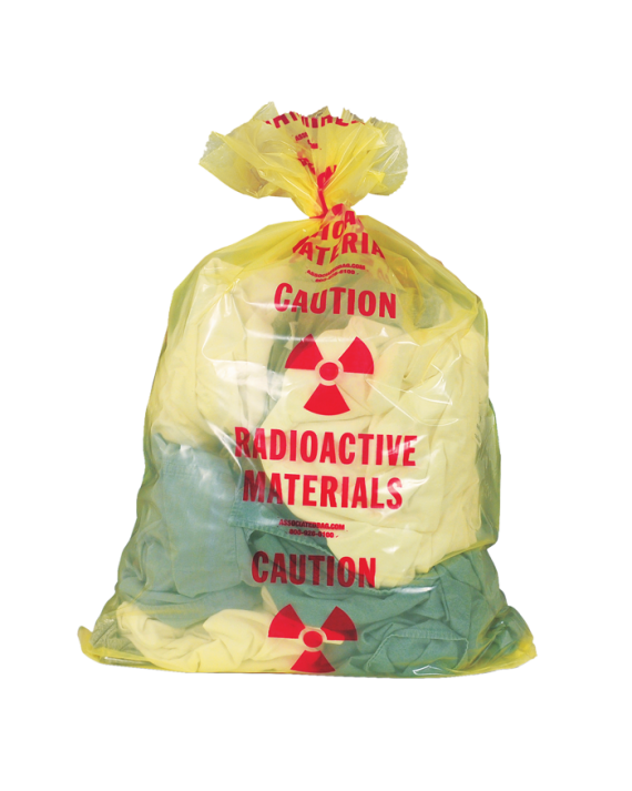 Radioactive Material Biohazard Waste Bags