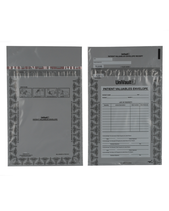 Patient Valuable Bags (Tamper Evident)