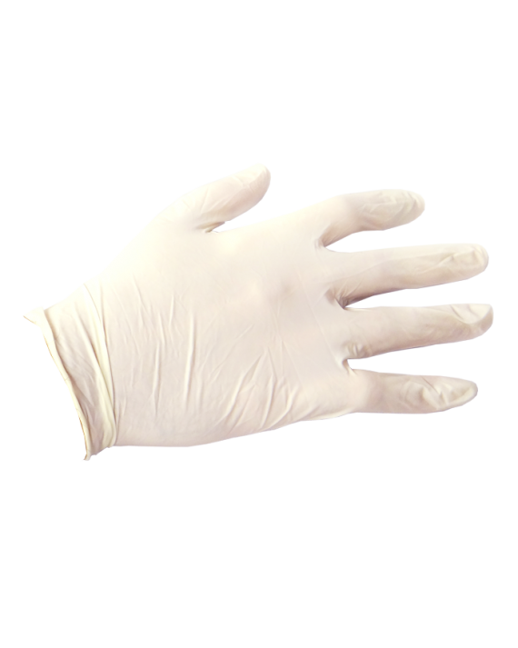 White Latex Exam Gloves