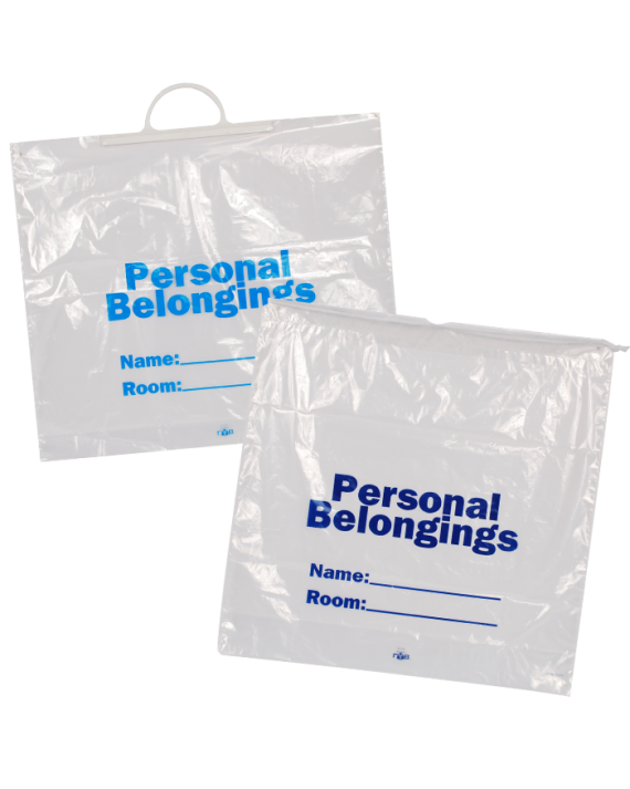 Patient Belonging Bags - White