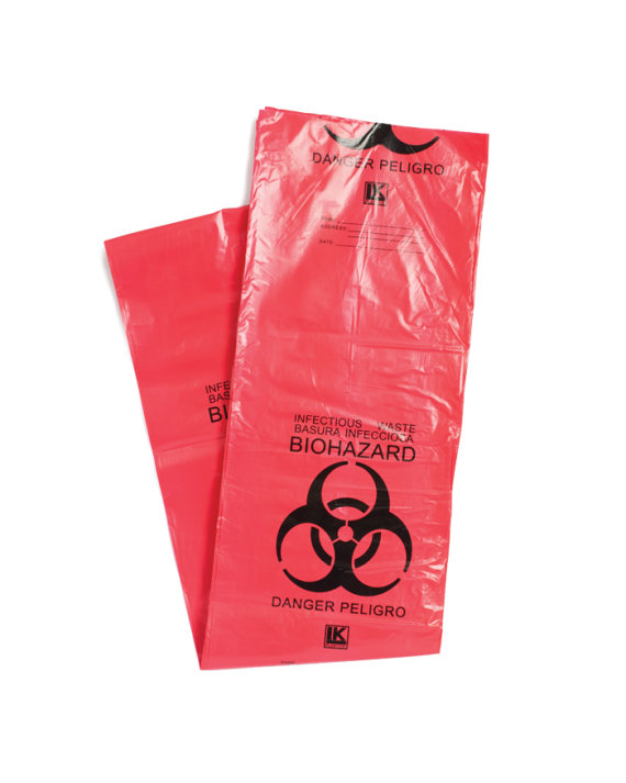 Red Biohazard Medical Waste Bags (Low Density)