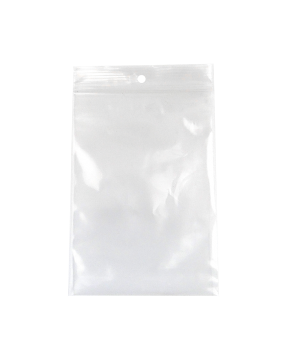 2 MIL Clear Zip Pharmacy Bags w/ Hanghole - 8 x 10