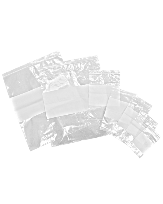 2 Mil Clear Zip Write-On Pharmacy Bags
