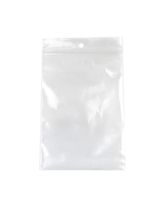 4 MIL Clear Zip Pharmacy Bags w/ Hanghole