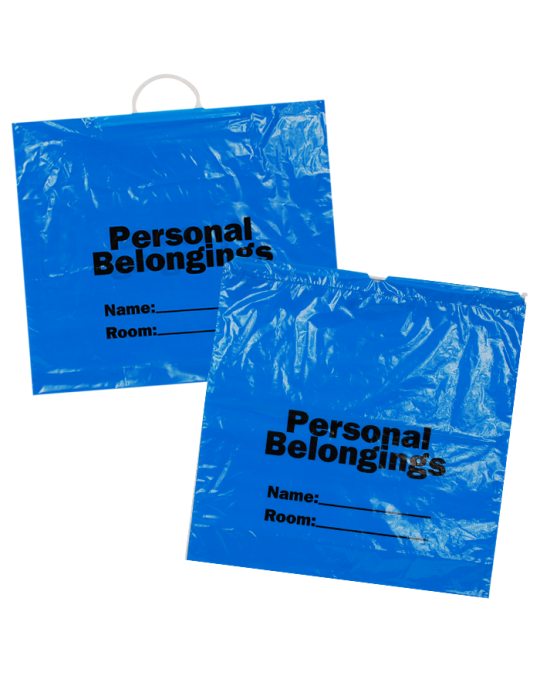 Patient Belonging Bags - Blue