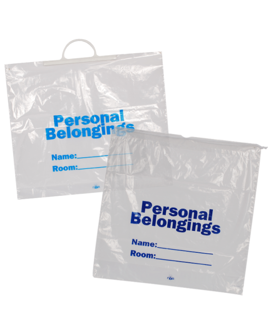 Patient Belonging Bags - Clear