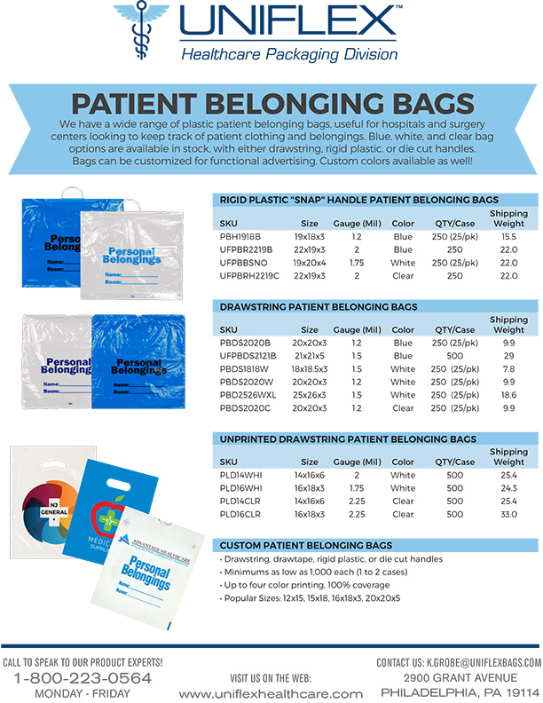 Healthcare Patient Bags